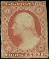 VEGAS - 1851 Sc# 11a - Mint - Partial OG - Margins - EL22