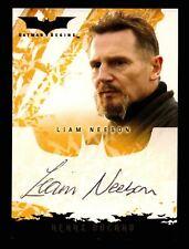 Batman Begins Movie Liam Neeson as Henri Ducard Autograph Card Topps 2005