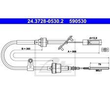 ATE Seilzug Kupplungsbetätigung FIAT MULTIPLA 186