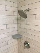 Corner Shower Shelf / Soap Dish /Caddy for Existing Walls Addon Delorean Gray