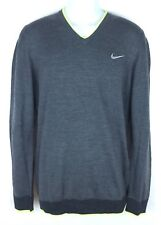 NEW Mens Nike Golf Engineered Knit 3-D Grey Volt Golf Sweater 686081-071 Size M