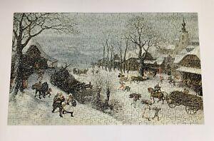 Vintage 1970 Springbok Jigsaw Puzzle Winter Landscape by Valckenborch complete
