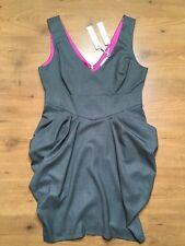 Red Herring Debenhams Hot Off the Catwalk Ruffle Hitch Dress  S:14 £35 Office