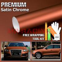 Free Kit Bronze Anodized Chrome GMC Emblem Overlay Vinyl Wrap Kit Sticker Decal Front /& Rear