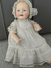 """1928 Horsman Baby Dimples 18"""" Original Clothes Very High Color Well Made Doll ."""