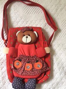 little girls shoulder handbag Red