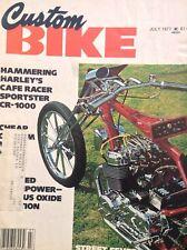 Custom Bike Magazine Harley's Cafe Racer Sportster July 1977 122817nonrh