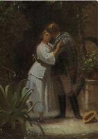 Alte Kunstpostkarte - Carl Spitzweg - Der Abschied