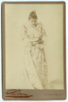 RARE VINTAGE THEATRE VAUDEVILLE: Actress Sadie Martinot by Sarony Cabinet Card