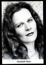 Elisabeth Rass Autogrammkarte Original Signiert ## BC 26244