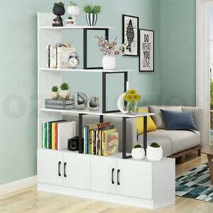 5 Level Ladder Bookshelves Bookcase Storage Cabinet Cube Shelf Display Unit