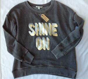 NWT American Eagle Outfitters gray burnout vintage wash pullover sweatshirt M