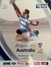 Rugby World Cup England 2015 Official Programme Match 46 Argentina vs Australia