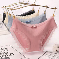 3 Pack Women Sexy Lace Panties Cotton Briefs Underwear knickers Breathable Hot