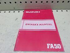 1984 SUZUKI FA50 OWNER OPERATORS MANUAL (SSM-28)