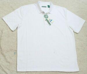 New Cubavera White Man's Polo Shirt Short Sleeve Polyester Man's Top XL X-Large