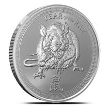 2020 Lunar Year of the Rat Mouse 1 oz .999 Fine Silver Round Coin bu - IN-STOCK!