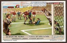 Soccer In Italy Giuoco Del Calcio In Italia c60 Y/O Trade Ad Card