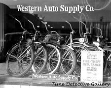 Bicycles for Sale, Western Auto, Brawley, California -1942- Historic Photo Print