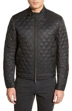 100% AUTHENTIC NEW MEN BURBERRY HOWSON BLACK QUILTED BOMBER JACKET/COAT US S