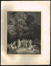 1800s Original Antique Engraving Greek Poet Homer Art Print