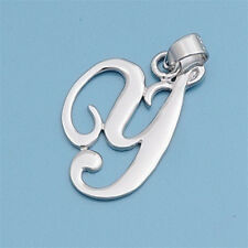 Alphabet Initial Pendant Sterling Silver 925 Rhodium Plated Jewelry Letter Y