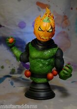 "JACK-O-LANTERN 6 3/4"" BUST w PROFESSIONAL BUILD & PAINT SPIDER-MAN RARE"