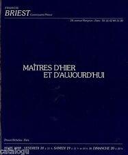 Catalogue vente BRIEST peinture art moderne contemporain Valtat Daumier Dubuffet