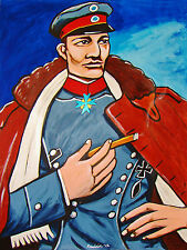THE RED BARON PRINT poster german ww1 blue max iron cross cigar smoke richthofen