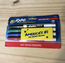 Expo Dry Erase Markers 4 Pack Intense Colors Fine Tip