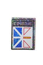 NEWFOUNDLAND & LABRADOR CANADA PROV. FLAG  METALLIC BUMPER STICKER 4 X 3 INCH
