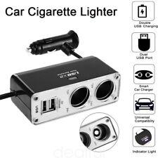 2 Socket Adapter Splitter Dual 2 USB Port Charger 12V 24V Car Cigarette Lighter