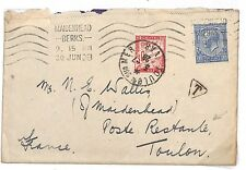 L213 1928 France Dues Cover