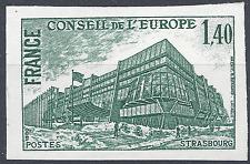 SERVICE N°63 EUROPE ESSAI COULEUR NON DENTELÉ VERT FONCÉ PROOF 1980 NEUF ** MNH