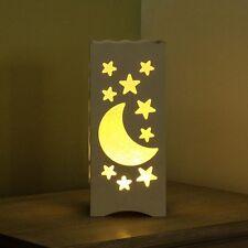 23CM Batería De Interior Niños estado de ánimo Mesita de noche luz de noche Lámpara de estrella luna