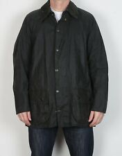 "BARBOUR Beaufort Wax Jacket Coat 44"" Large XL Navy Blue Vintage  (5BB)"