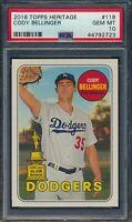2018 Topps Heritage Cody Bellinger Los Angeles Dodgers #118 PSA 10 GEM MT
