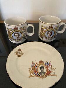 Royal family memorabilia, Queen Elizabeth Silver Jubilee, 1977, Plates, Ashtray