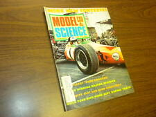 MODEL CAR SCIENCE magazine AUGUST 1968 slot cars model kits Monogram matchbox