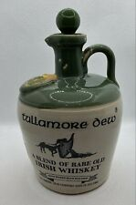 Tullamore Dew UISGE BAUGH Irish Whisky Green Top Jar Flask Flagon With Stopper