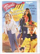 ▬► PUBLICITE ADVERTISING AD Poupées BARBIE EXPO MONACO COLLECTION PRIVEE 2003