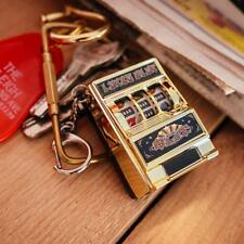MINI SLOT MACHINE GAME LED FLASHING KEY CHAINS LUCKY CHARM KEYCHAIN JP-0808