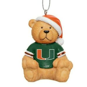 Miami Hurricanes #1 Sports Nut Canes Football Christmas Ornament