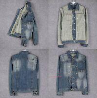 Mens Classic Cotton Denim Jacket Jeans Coat Long Sleeve Outwear Casual Vintage