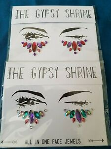 2 x THE GYPSY SHRINE ALL IN ONE FACE JEWELS-NEW