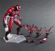 Play Arts Kai Marvel Spider Man Red Venom Carnage Action Figure Model Toy