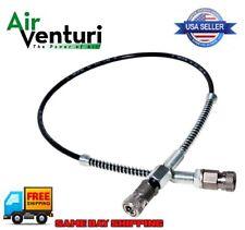 "Air Venturi Foster Quick-Detach Hose Assembly 1/8"" BSPP Female AV-00058 SS Steel"