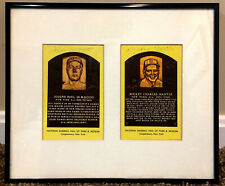 Joe DiMaggio, Mickey Mantle Framed Autographed HOF Plaques