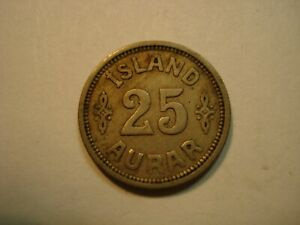 ICELAND  25  AURAR   1923
