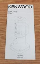 Replacement Manual Only For Kenwood BL700 Series Coffee Makers **READ**